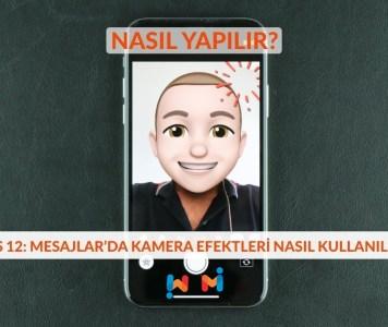 iOS 12 Mesajla Kamera Efektli Fotoğraf Göndermek