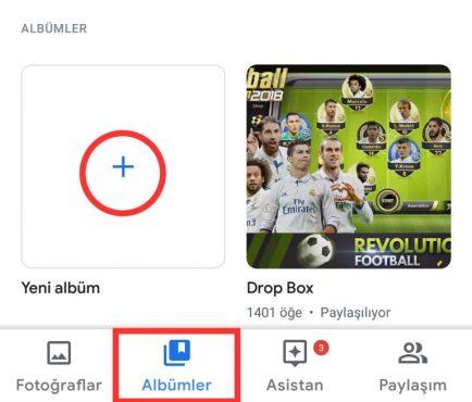 Google Fotoğraflarda Albüm Nasıl Oluşturulur?