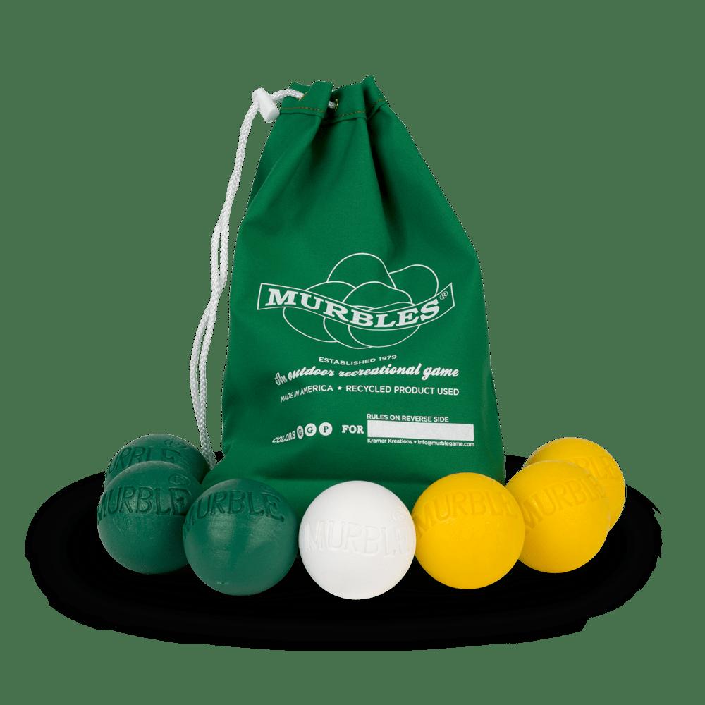 Murbles 2 Player 7 Ball Tournament Set Green Bag
