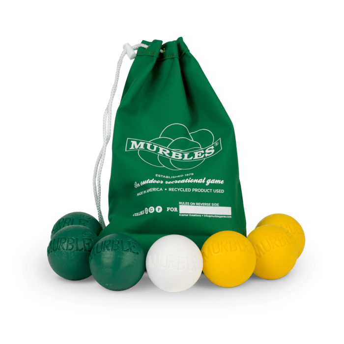 Murbles 2 Player 7 Ball Tournament Set Green Bag