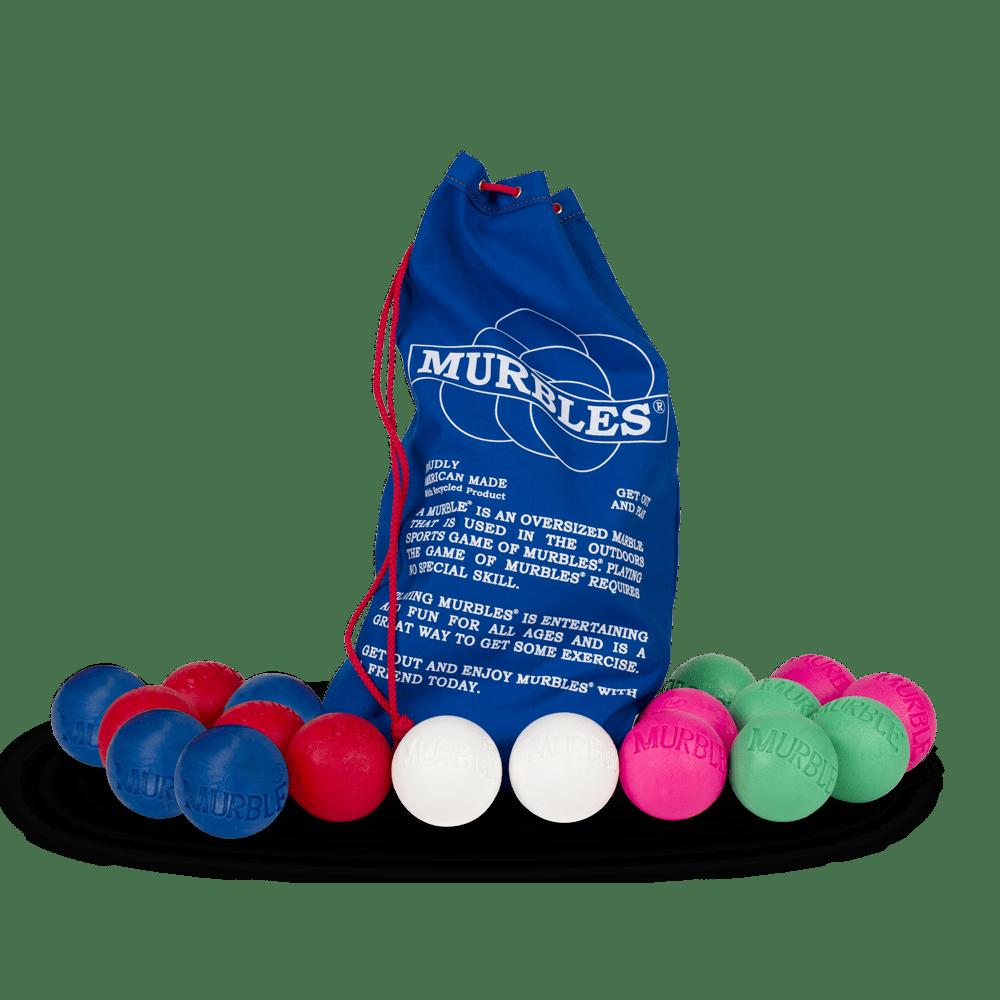 Murbles 8 Player 18 Ball Medium Activity Set Pink and Green Murbles