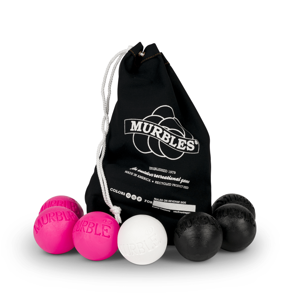 Murbles 2 Player 7 Ball Tournament Set Black Bag