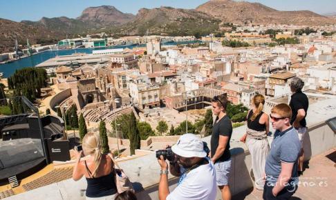 Cartagena Roman Theatre - GPX Route Download - Murcia Bike Hire