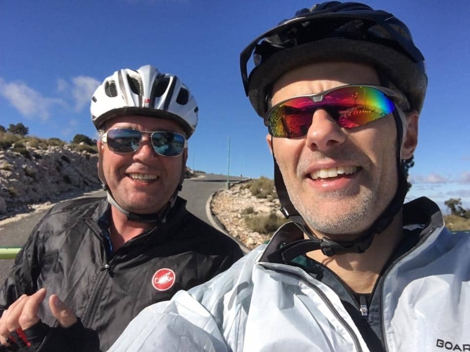 Feeling happy at the top of the Sierra Espuña