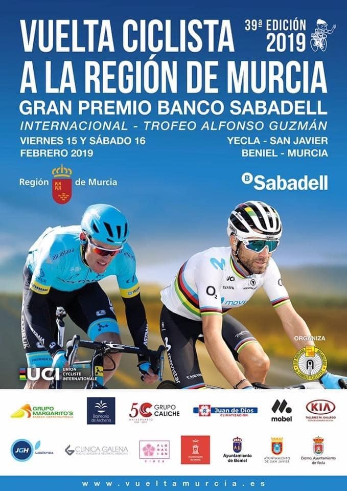 """New about the """"Vuelta de Murcia 39th Edition 2019"""""""