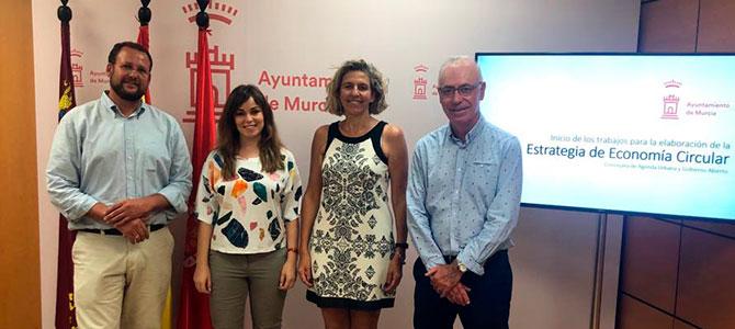 Los concejales de Murcia Guillén, Pérez, Bernabé y Navarro