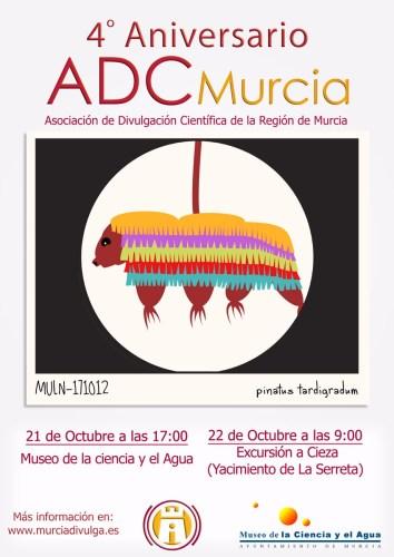 Cartel del 4º Aniversario de ACDMurcia