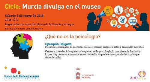 Cartel de la conferencia '¿Qué no es la psicología?'