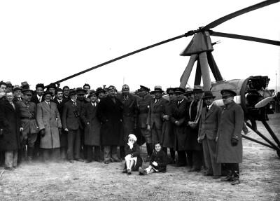 El Autogiro de Juan de la Cierva aterrizó en el campo de Manises el 24 de marzo
