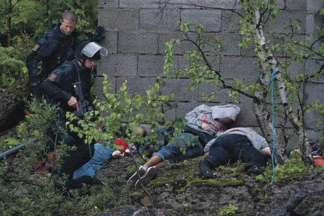 Risultati immagini per anders breivik crime scene