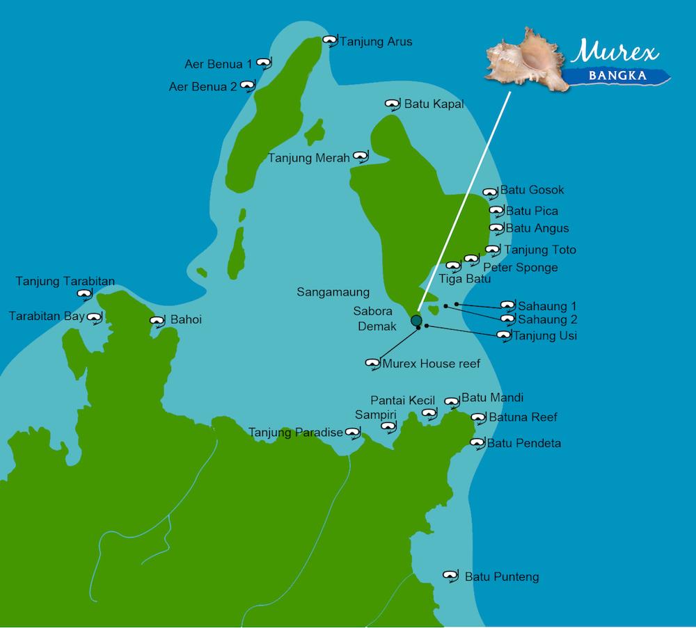 Bangka snorkeling map
