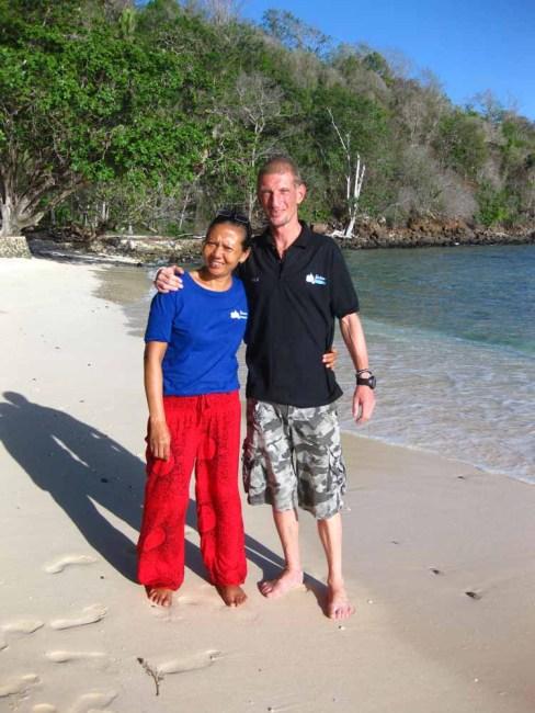 Olivier and Miyah at Murex Bangka