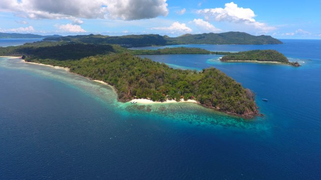Tropical Island Bangka in North Sulawesi