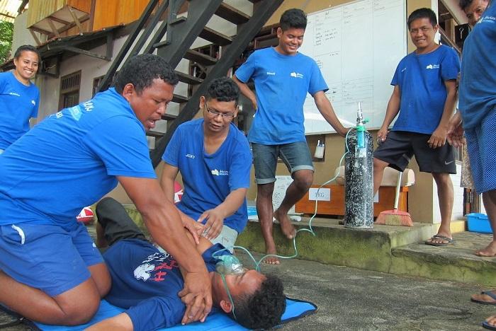 Bangka Rescue training