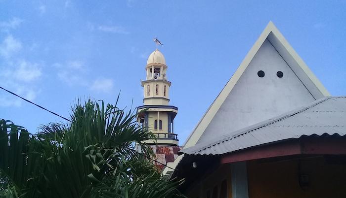 Bangka fish church spire