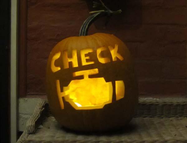 Image result for Check engine light pumpkin