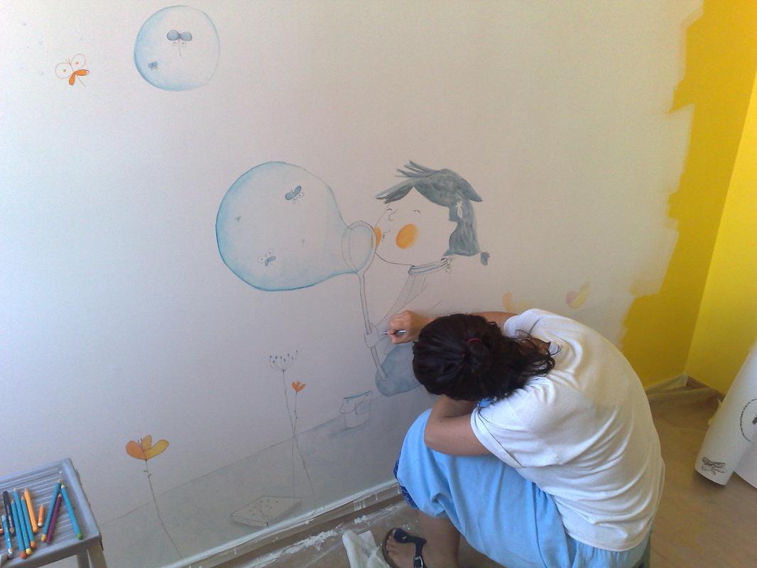 illustrazioni disegni decori su muro  Muri Illustrati