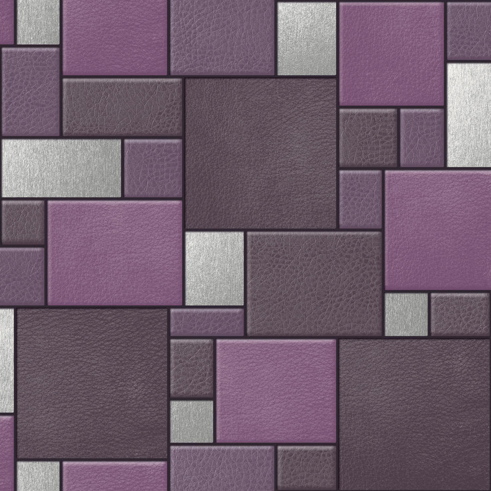 Designer Wallpaper Leather Tiles Koziel F957  Murivamuriva