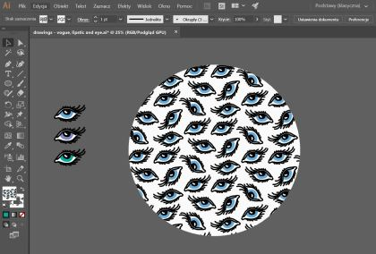sformatowanie projektu wzoru na materiał tekstylny