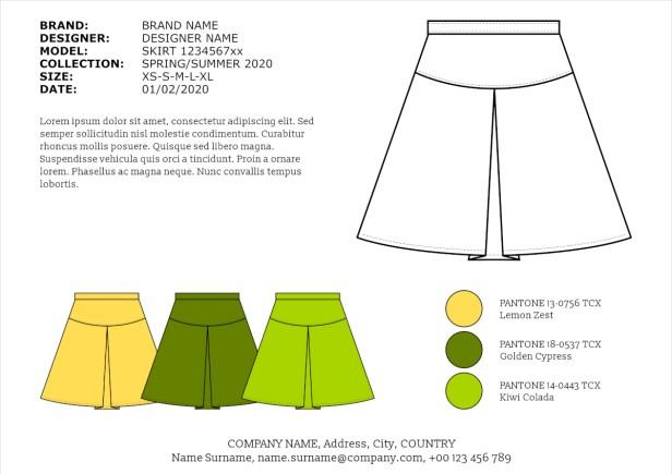 rysunek techniczny odzieży dokumentacja odzieżowa