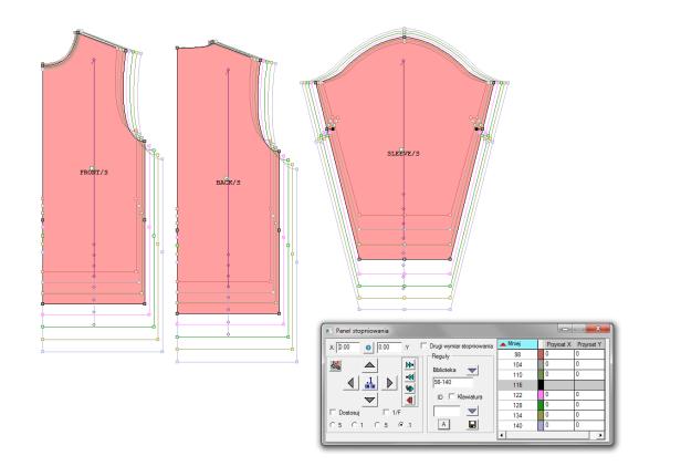 system CAD do odzieży szablony odzieżowe i stopniowanie