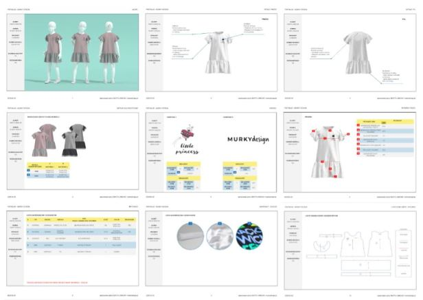 dokumentacja techniczna modelu odzieżowego