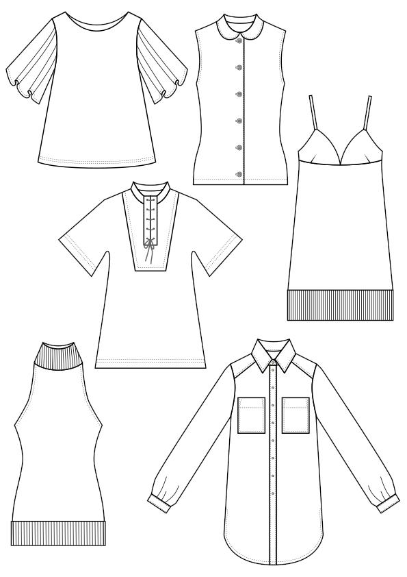rysunki techniczne do dokumentacji odzieży