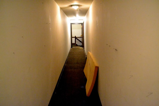 Looking toward the stairs. The doors to the apartments are behind me.