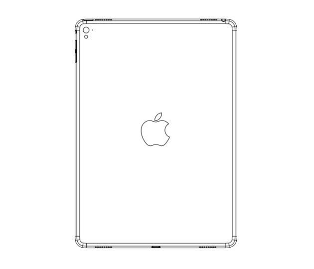 Vuotaneen piirustuksen mukaan iPad Air 3:sta löytyy neljä