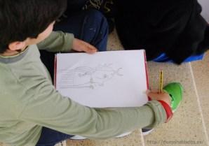 Un alumno dibuja su versión del demonio