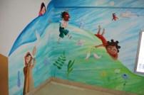 Parte del mural de las culturas ya finalizado