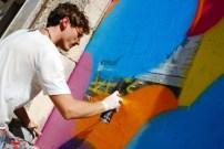 Grip Face pintando en una calle de Palma