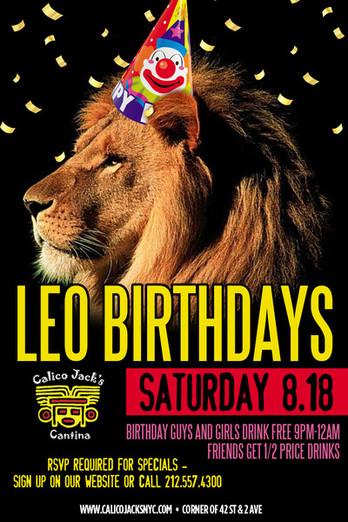 Leo Birthdays Party At Calico Jack's MurphGuide NYC Bar