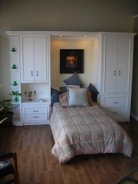 Single Murphy Wall Bed with Panel Moulding | Murphy Beds ...
