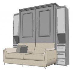 Wall Bed With Sofa Canada Light Gray Cover Plaza Murphy Beds Of San Diego