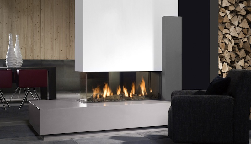 Bellfires View Bell Room Divider Large Gas Fire