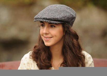 Ladies Herringbone Tweed Cap