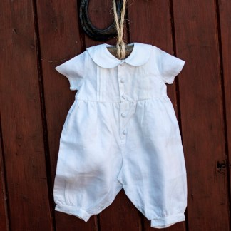 Pintuck Romper Christening Outfit