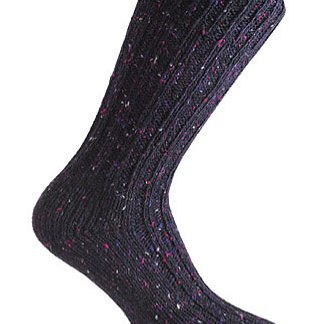 Donegal Tweed Sock - Blackberry