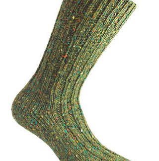 Donegal Tweed Sock - Fern Green