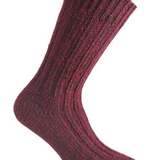 Donegal Tweed Sock - Wine