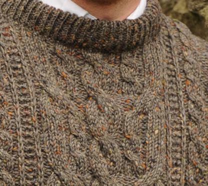Heritage Aran Sweater Pebblestone