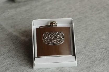 Irish Pewter Hip Flask