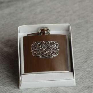 Irish Pewter Hip Flask