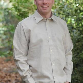 Irish Linen Sunday Shirt (Collar) Oatmeal