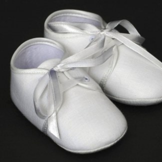 Irish Linen Christening Booties