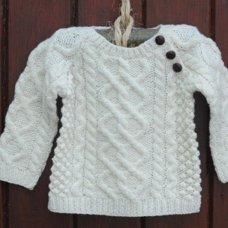 The Wee Heritage Aran Sweater Natural