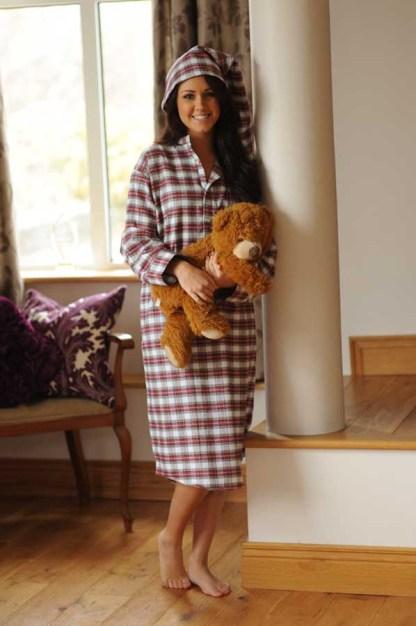 Gleneske Tartan Ladies Irish Nightshirt Dress Stewart