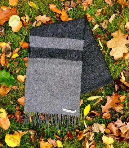 Charcoal Mist Lambswool Scarf
