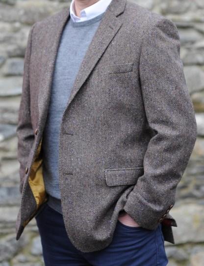 Ballyclare Herringbone Donegal Tweed Jacket